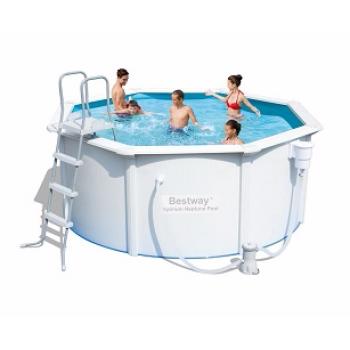 Бассейн стальной BestWay Hydrium Pool Set 56571 BW, 360х120см, 10990л (+фильтр-насос 2006л/ч, лестница, подстилка)