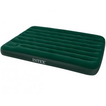Надувной матрас Intex Downy Bed 66928, 137х191х22см, со встроенным ножным насосом