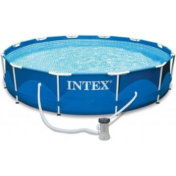 Каркасный бассейн Intex Metal Frame 28212, 366х76см, 6503л (+фильтр-насос 2006л/ч)