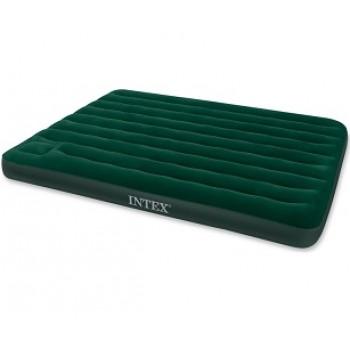 Надувной матрас Intex Downy Bed 66929, 152х203х22см, со встроенным ножным насосом