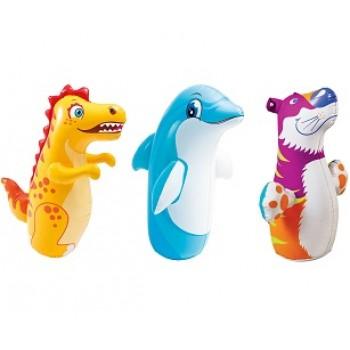 Надувная игрушка-неваляшка Intex 44669, 3 вида, для детей от 3 лет