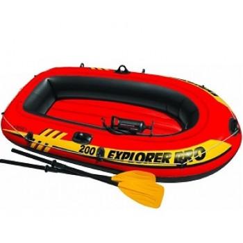 Надувная лодка Intex 58357 Explorer Pro 200 Set, 196х102х33см (+пластиковые весла, насос)