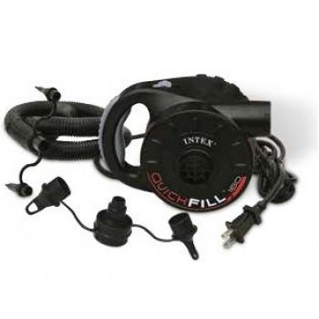 Насос электрический Intex 66624 Quick-Fill, 220В от бытовой сети, 3 насадки со шлангом в комплекте
