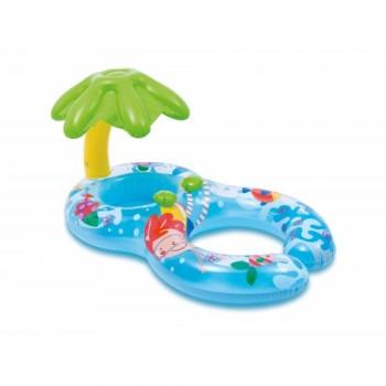 """Круг надувной для плавания Intex 56590 """"Мой первый круг"""" с навесом от солцнца, для мамы и ребенка, 117x75 см"""