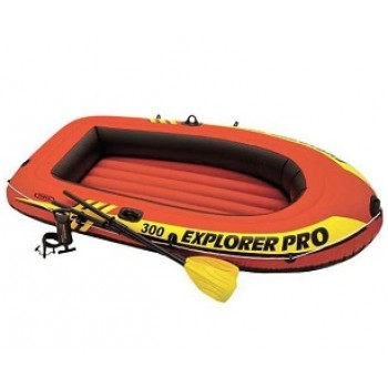 Надувная лодка Intex 58358 Explorer Pro 300 Set, 244х117х36см (+весла 59623, насос 68612) до 200кг
