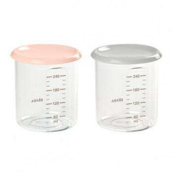 """Набор из двух контейнеров 240 мл Beaba """"Set 2 Maxi JARS"""", 912715 / Nude"""