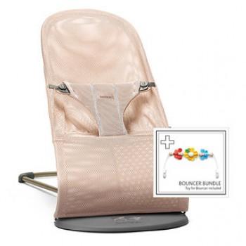 """Детский шезлонг с игрушкой BabyBjorn """"Balance Bliss"""" [ art. 6060 ], 01/ Жемчужно-розовый"""