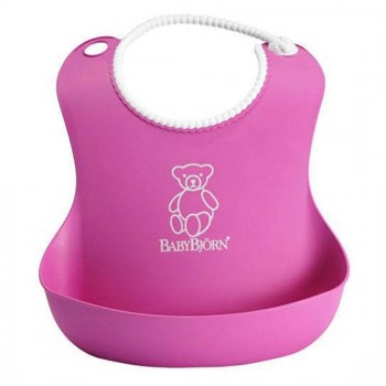 Нагрудник мягкий пластиковый BabyBjorn, 55 / розовый