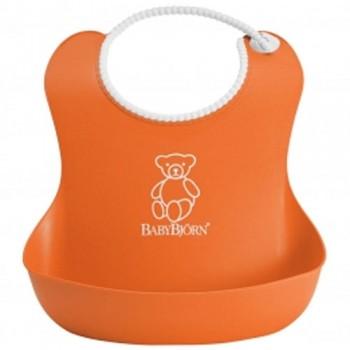 Нагрудник мягкий пластиковый BabyBjorn, 70 / оранжевый