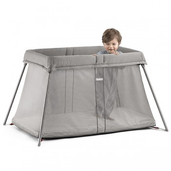 "Манеж-кровать BabyBjorn ""Travel Crib Easy Go"", 02 / Серо-бежевый"