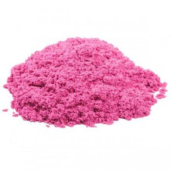 Пластичный (кинетический) песок - Песочница+формочки 1 кг., КП05Р10Н / Розовый