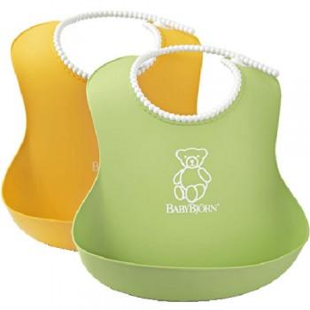 Нагрудник мягкий пластиковый (2 шт.) BabyBjorn, 03 / Желтый-зеленый