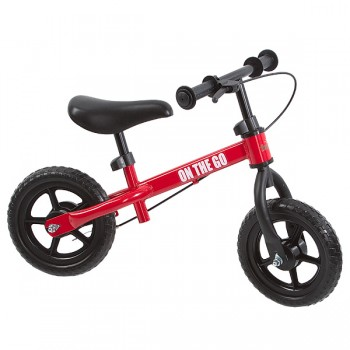 "Беговел с тормозом 10"" Funkids ""On-The-Go"", Красный"