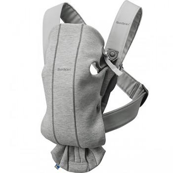 "Рюкзак-Кенгуру BabyBjorn ""Mini Cotton Jersey"", 72 / Светло-серый"