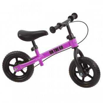 "Беговел с тормозом 10"" Funkids ""On-The-Go"", Фуксия"