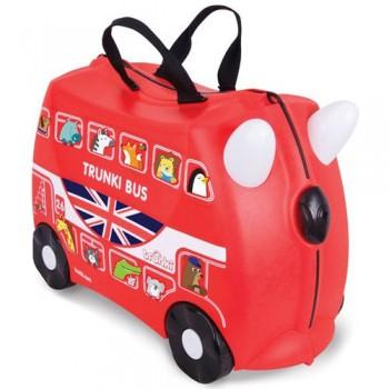 Каталка-чемодан с наклейками Trunki Автобус