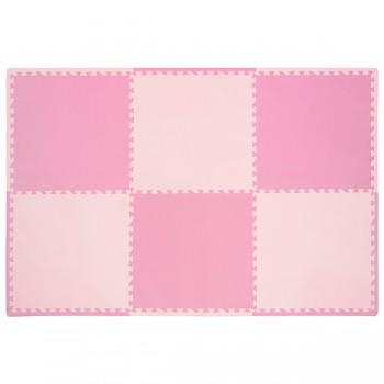 "Детский коврик пазл Funkids ""Симпл-24"", 02, розовый"