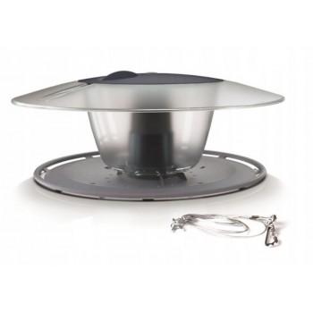 Кормушка садовая подвесная для птиц Prosperplast Round IBFR-405U серая