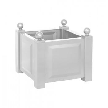 Квадратный пластиковый ящик KHW 38001 для садовых растений, белый