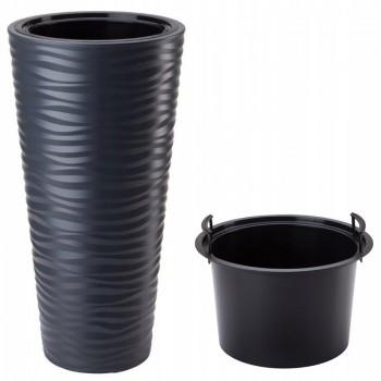 Садовое кашпо для цветов SAND SLIM DPSA400-S433 антрацит 2 предмета 18 и 45л