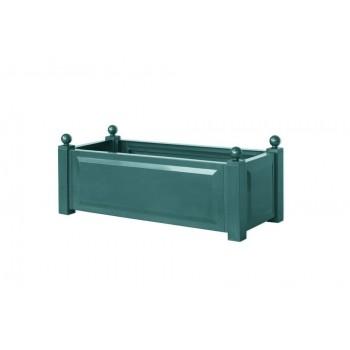 Прямоугольный пластиковый ящик KHW 38103 для растений, зеленый