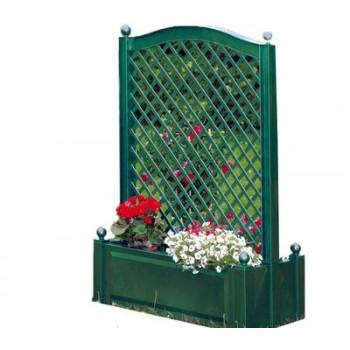 Большой ящик KHW 37103 для цветов с центральной шпалерой 100см, зеленый