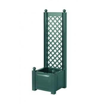 Маленький садовый ящик KHW 37203 для растений со шпалерой 43 см, зеленый