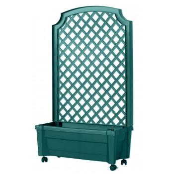 """Ящик садовый для цветов KHW 37303 со шпалерой на колесах """"Калипсо"""", зеленый (2кор)"""