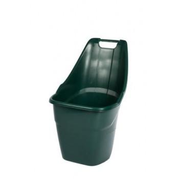 Садовая тележка Helex H9018, серая, 55 л, двухколесная, пластиковая