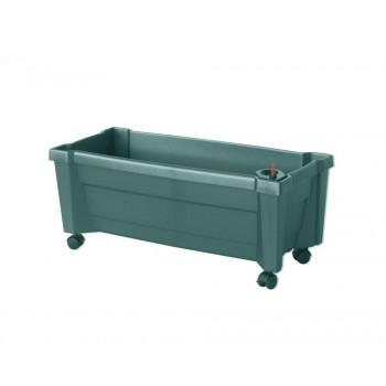 """Ящик пластиковый для цветов KHW 37393 """"Калипсо"""", зеленый"""