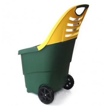 Садовая тележка Helex H808, зеленая/желтая 65 л, двухколесная, пластиковая