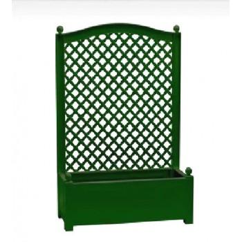 Большой ящик для сада KHW 37003 для растений с шпалерой 100 см, зеленый