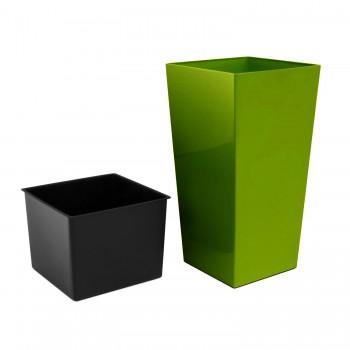 Садовое кашпо для цветов URBI SQUARE DURS400-370U оливковый 2 предмета 37 и 91,5л