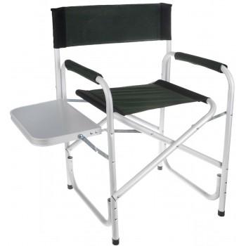 Складное алюминиевое кресло для пикника и сада Green Glade Р139 с полкой и подлокотником