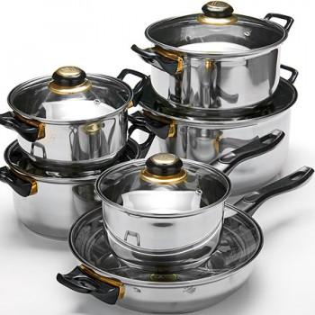 Набор посуды MAYER & BOCH 25748, нержавеющая сталь (4 кастрюли + ковш + сковорода)