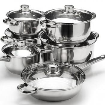 Набор посуды MAYER & BOCH 6071, нержавеющая сталь (кастрюли, ковш, сковорода)