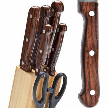 Набор кухонных ножей MAYER & BOCH 27425, 5 ножей + ножницы на подставке