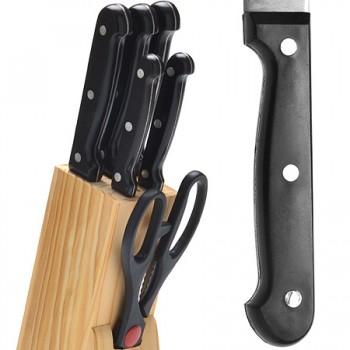 Набор кухонных ножей MAYER & BOCH 27423 на деревянной подставке