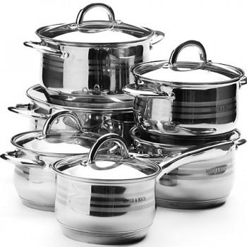 Набор кастрюли + сковородка MAYER & BOCH 25156, нержавеющая сталь