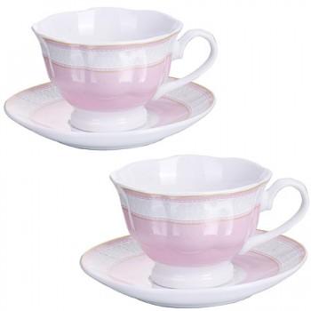 Чайная пара Loraine 28643, на 2 персоны, в подарочной упаковке
