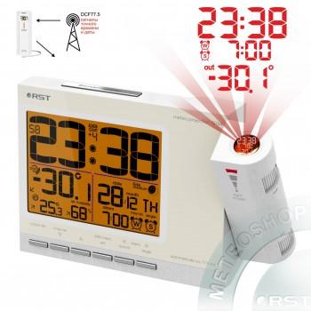 Проекционные часы RST 32764, цвет слоновая кость (ivory) / белый