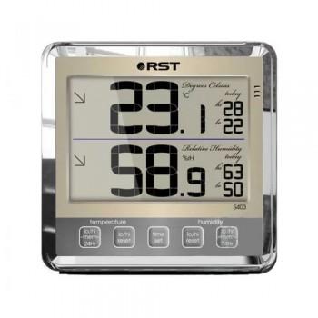 """Цифровой термогигрометр RST 02403 с большим дисплеем, цвет """"шампань"""""""