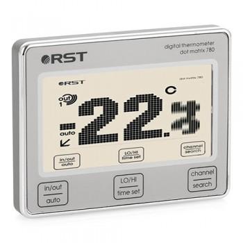 Цифровой термометр RST 02780 с радиодатчиком, точечно-матричный дисплей с анимацией температур