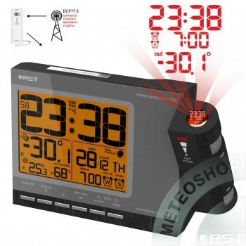 Проекционные часы RST 32765 (дом/улица), цвет темный графит