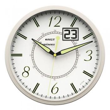 Часы настенные светящиеся темноте с датой RST 77748