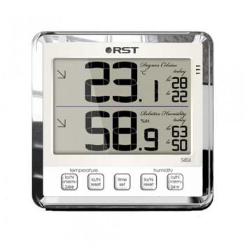 """Цифровой термогигрометр RST 02404 с большим дисплеем, цвет """"слоновая кость"""""""