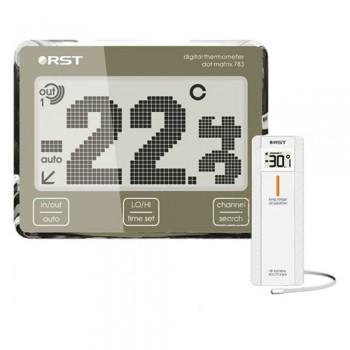 Цифровой термометр RST 02783 с радиодатчиком, точечно-матричный дисплей с анимацией температур.