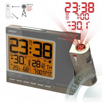 Проекционные часы RST 32768 (дом/улица), цвет шампань