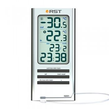 Цифровой термометр RST 02301 дом/улица, серебристый корпус