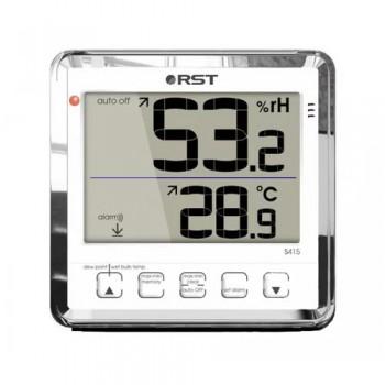 Цифровой термогигрометр RST 02415 с большим дисплеем, белый корпус